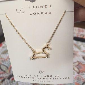 "LC horoscope necklace Leo 16"" goldtone"